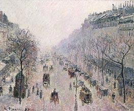 Boulevard Montmartre, 1897 von Pissarro | Gemälde-Reproduktion