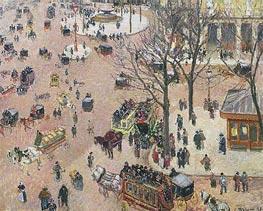 La Place du Theatre Francais, 1898 von Pissarro | Gemälde-Reproduktion
