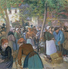 Poultry Market at Gisors, 1885 von Pissarro | Gemälde-Reproduktion