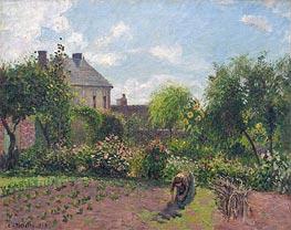 The Artist's Garden at Eragny, 1898 von Pissarro | Gemälde-Reproduktion