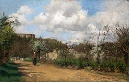 View from Louveciennes, c.1869/70 von Pissarro | Gemälde-Reproduktion
