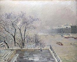 The Louvre under Snow, 1902 von Pissarro | Gemälde-Reproduktion
