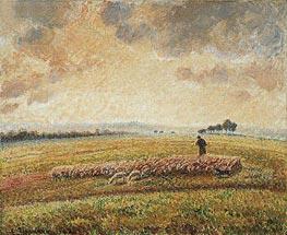 Landscape with Flock of Sheep, 1902 von Pissarro | Gemälde-Reproduktion