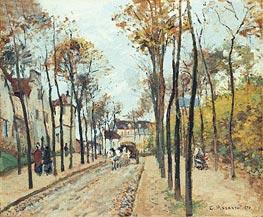 The Boulevard des Fosses, Pontoise, 1872 von Pissarro | Gemälde-Reproduktion