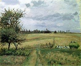 Landscape at Pontoise | Pissarro | Gemälde-Reproduktion