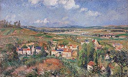 The Hermitage in Summer, Pontoise | Pissarro | Gemälde Reproduktion