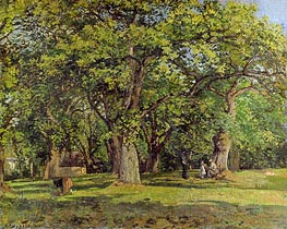 The Forest, 1870 by Pissarro | Painting Reproduction