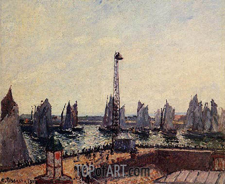 Pissarro | The Inner Port and Pilots Jetty, Le Havre, 1903