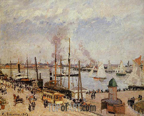 The Port of Le Havre - High Tide, 1903 | Pissarro | Painting Reproduction