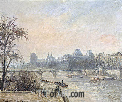 The Seine and the Louvre, Paris, 1903 | Pissarro| Painting Reproduction