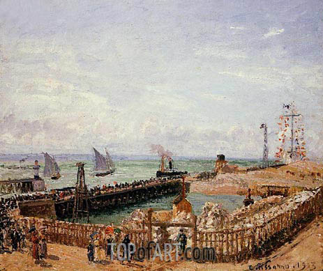 Pissarro | The Jetty, Le Havre - High Tide, Morning Sun, 1903