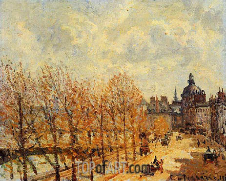 Quay Malaquais, Morning, Sunny Weather, 1903 | Pissarro | Painting Reproduction