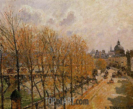 Quai Malaquais - Morning, Sun, 1903 | Pissarro | Painting Reproduction