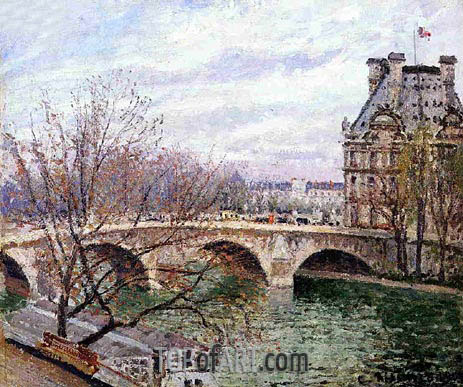 Pissarro | The Pont Royal and the Pavillon de Flore, 1903