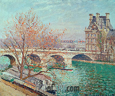 The Pont Royal and the Pavillon de Flore, 1903 | Pissarro | Gemälde Reproduktion