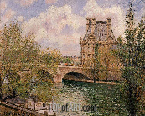 The Pavillon de Flore and the Pont Royal, 1903 | Pissarro | Gemälde Reproduktion