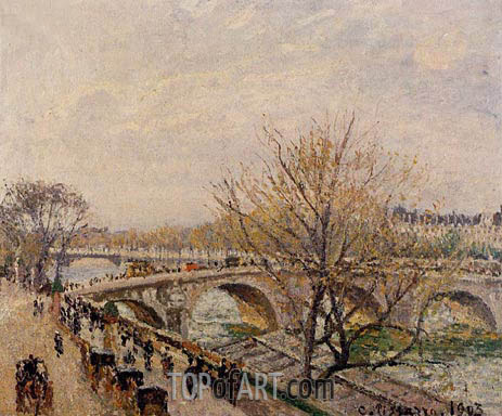 The Seine at Paris, Pont Royal, 1903 | Pissarro | Gemälde Reproduktion