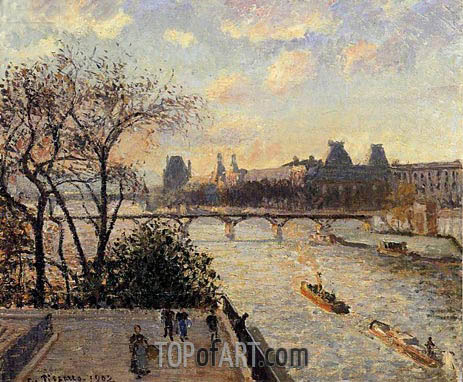 Pissarro | The Louvre and the Seine from the Pont-Neuf, 1902