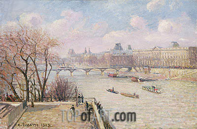 The Raised Terrace of the Pont-Neuf, 1902 | Pissarro| Gemälde Reproduktion