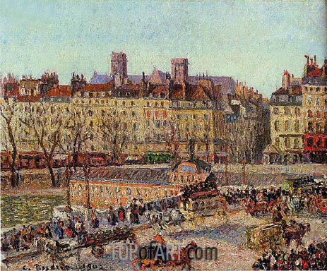 The Baths of Samaritaine, Afternoon, 1902 | Pissarro | Painting Reproduction
