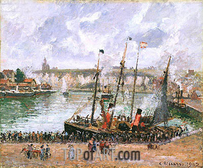 Harbor at Dieppe, 1902 | Pissarro | Gemälde Reproduktion