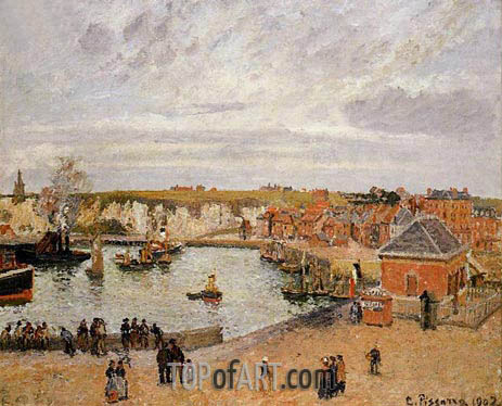 The Port of Dieppe, 1902 | Pissarro | Gemälde Reproduktion