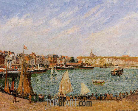 Afternoon, Sun, the Inner Harbor, Dieppe, 1902 | Pissarro | Gemälde Reproduktion