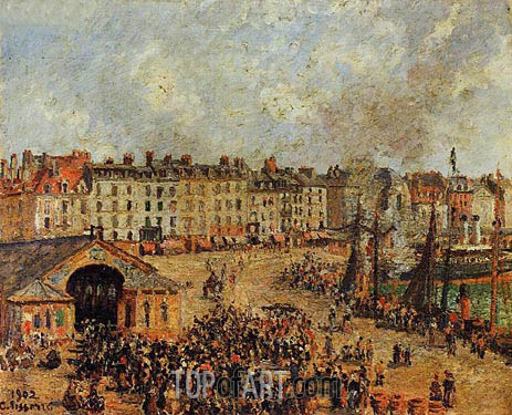 The Fishmarket, Dieppe, 1902 | Pissarro | Painting Reproduction