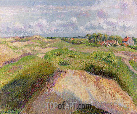 The Dunes at Knocke, Belgium, 1894 | Pissarro | Painting Reproduction