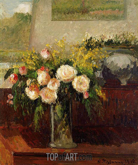Roses of Nice, 1902 | Pissarro | Painting Reproduction