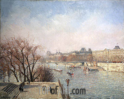 The Louvre - Morning, Sun, 1901 | Pissarro | Painting Reproduction