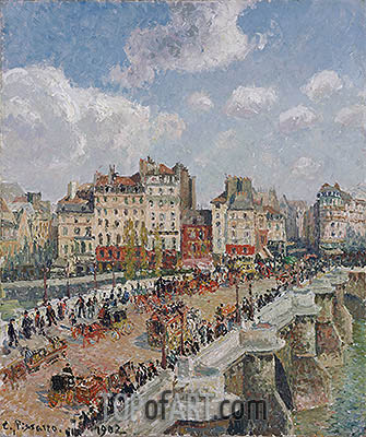 The Pont-Neuf, 1902 | Pissarro| Painting Reproduction