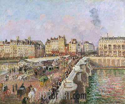 Afternoon Sunshine, Pont Neuf, 1901 | Pissarro | Painting Reproduction