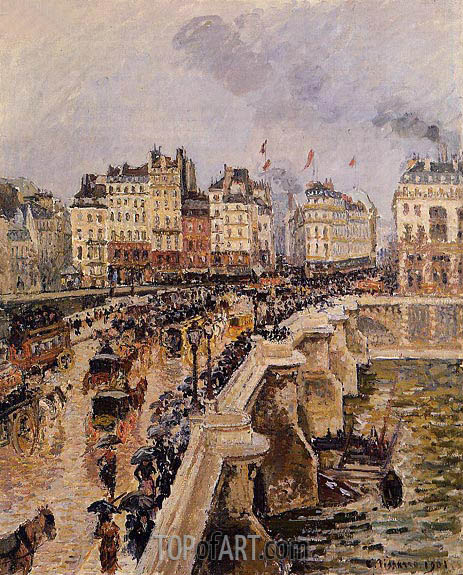 The Pont-Neuf, Rainy Afternoon, 1901 | Pissarro | Gemälde Reproduktion