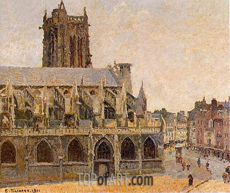 The Church of Saint-Jacques, Dieppe, 1901 | Pissarro | Painting Reproduction