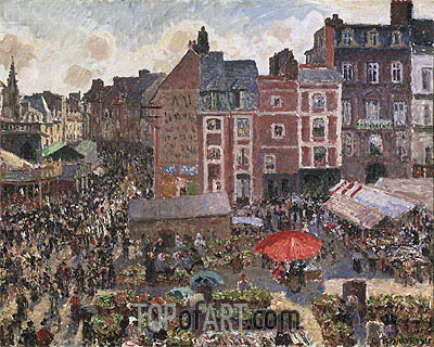 Fair on a Sunny Afternoon, Dieppe, 1901 | Pissarro| Painting Reproduction