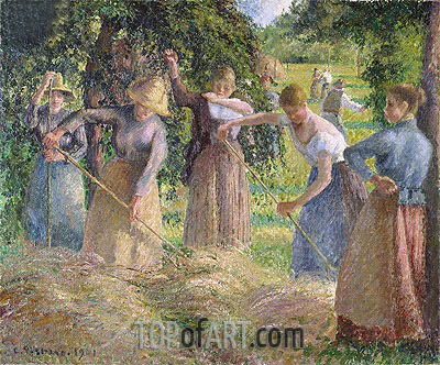 Harvest at Eragny, 1901 | Pissarro | Gemälde Reproduktion