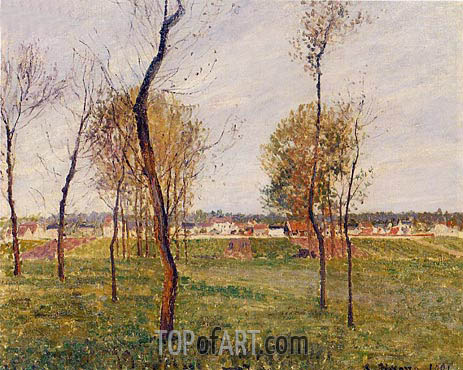 A Meadow in Moret, 1901 | Pissarro | Painting Reproduction