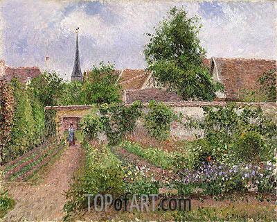 Pissarro | Vegetable Garden in Eragny, Overcast Sky, Morning, 1901