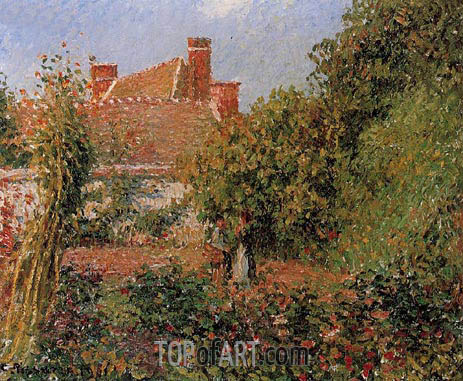 Kitchen Garden at Eragny, Afternoon, 1901 | Pissarro | Gemälde Reproduktion
