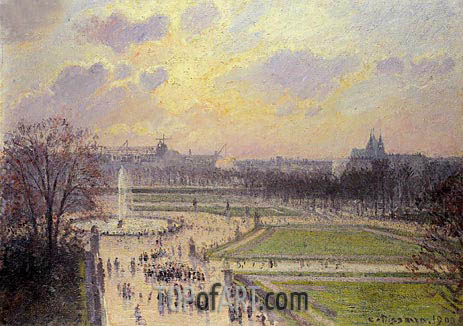 Pissarro | The Bassin des Tuileries, 1900