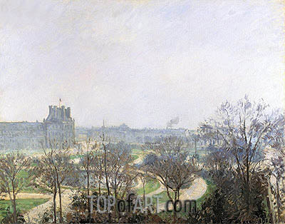 The Tuileries Gardens, 1900 | Pissarro| Painting Reproduction