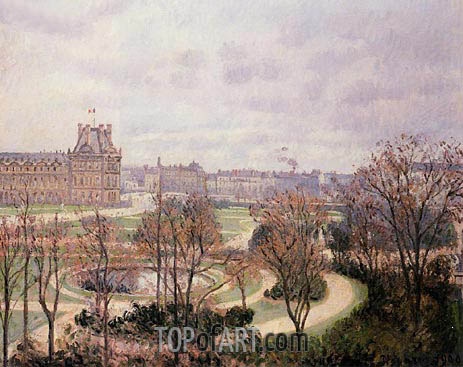 Pissarro | View of the Tuileries - Morning, 1900