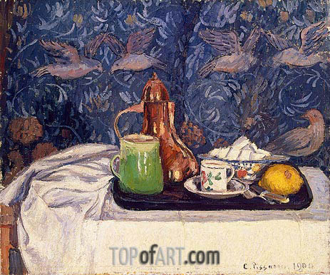 Still LIfe with a Coffee Pot, 1900 | Pissarro| Painting Reproduction