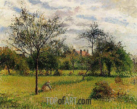 Morning, Autumn Sunlight, Eragny, 1900 | Pissarro | Painting Reproduction