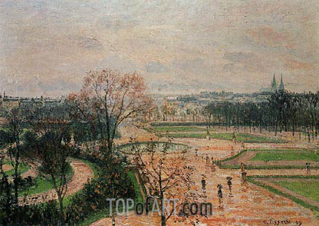 The Tuileries Gardens - Rainy Weather, 1899 | Pissarro | Painting Reproduction