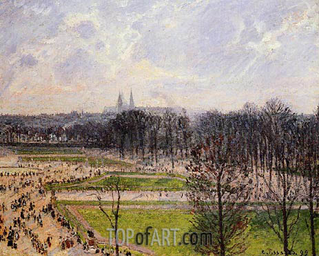 Pissarro | The Garden of the Tuileries on a Winter Afternoon, 1899