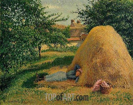 The Siesta, Eragny, 1899 | Pissarro | Gemälde Reproduktion