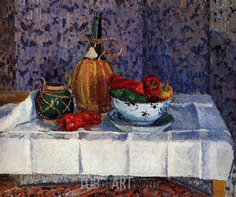 Still Life with Spanish Peppers, 1899 | Pissarro | Painting Reproduction