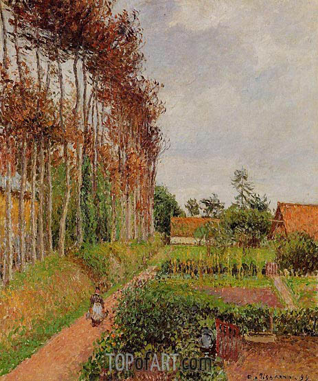 The Steading of the Auberge Ango, Varengeville, 1899 | Pissarro | Painting Reproduction